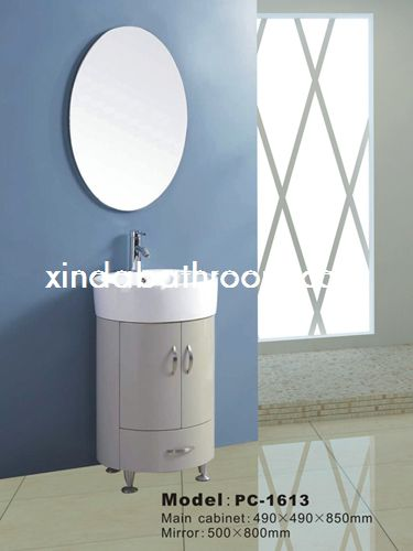 round mirrored bathroom cabinet PC-1613