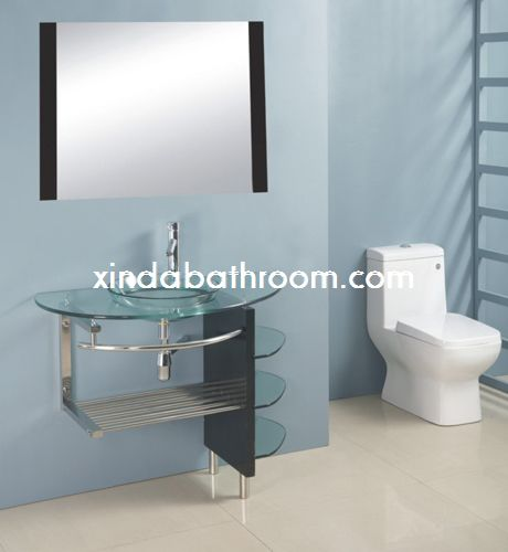 glass top vanities GV-012