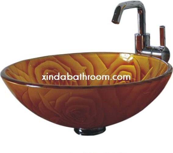 glass vessel bathroom sink 7006