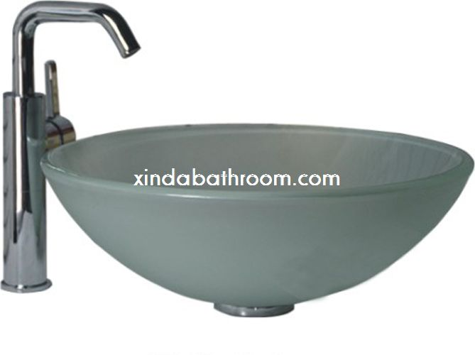frosted glass sink 7009