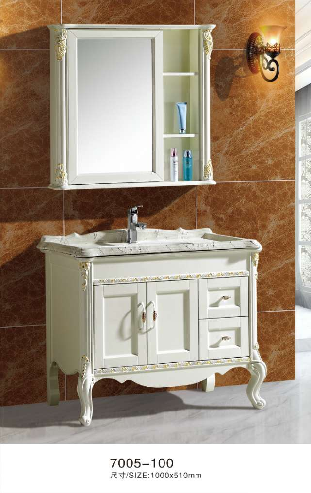 100cm white bathroom cabinets with mirror cabinet